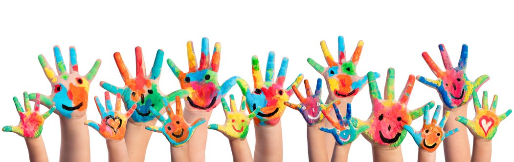 An image of painted hands
